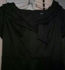Платье классическое черное