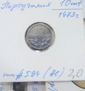 Монета 10 centavos 1973