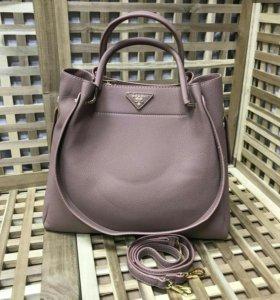 Женская сумка прада prada 2 в 1 с косметичкой