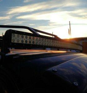 Багажник и led bar (светодиодная люстра)