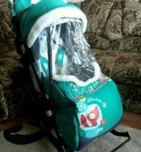 Новая детская санки-коляска