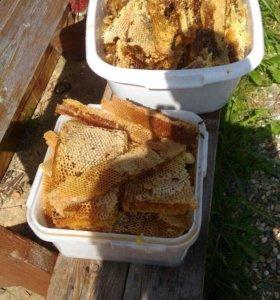 Мёд липовый натуральный в сотах и без