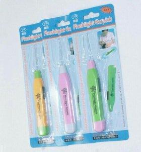 Прибор для чистки детских ушек с LED подсветкой
