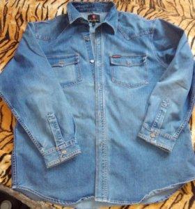 Рубашка джинсовая большая