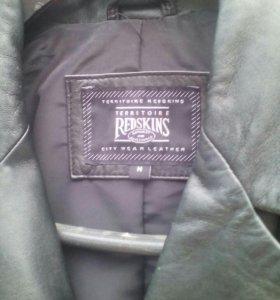 Кожанный пиджак-френч,р.50-52. Купил и поправился