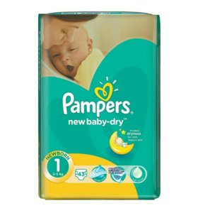 Памперсы подгузники Pampers new baby-dry 1