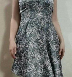 Платье тяжелый шелк. Турция.