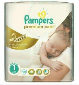 Памперсы подгузники Pampers premium care 1