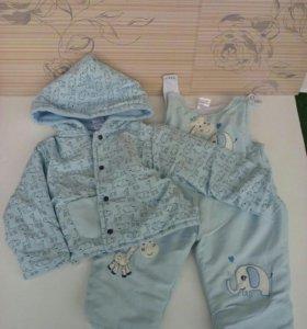 Комбинезон детский: куртка и брюки на весну и лето