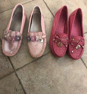 Мокасины, туфли в стиле valentino,Tory Burch