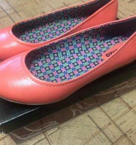 Обувь женская, новые балетки 38 р