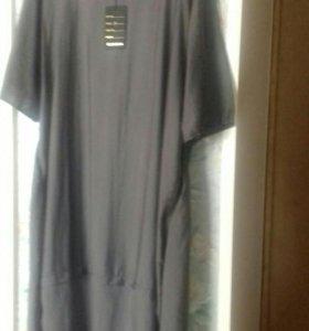 Новое платье ( с этикеткой) цвет серо-коричневый..