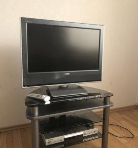 Телевизор  toshiba ,DVD pioneer ,стойка стеклянная