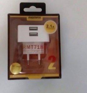 Адаптер 2 usb 2.1A remax original