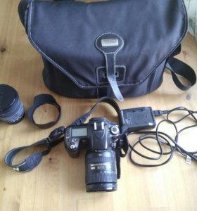 Фотоаппарат Nikon D80 + Nikon 16-85 + Sigma 17-70