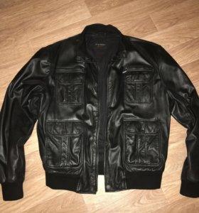 Куртка кожаная натуральная мужская 48 размер
