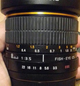 Объектив samyang fisheye 8mm f3.5 for canon
