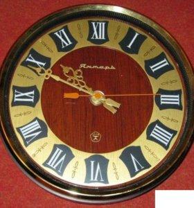 часы настенные Янтарь круглые производство СССР