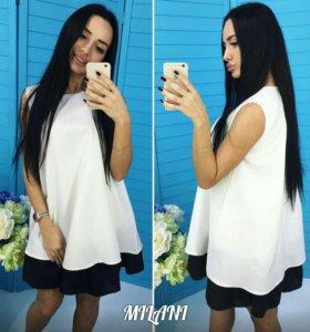 Эффектное черно-белое платье (новое)
