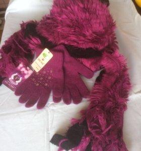Комплект шарф и перчатки ⭐️