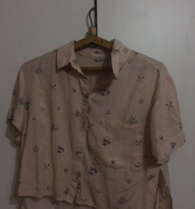 Блузка укорочённая из Bershka