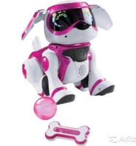 Интерактивная собака Teksta Robotic Puppy, розовая