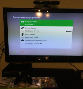 Xbox 360 Slim в идеальном состоянии + Kinect+ HDD