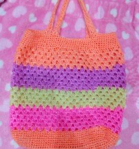 Вязанная сумка.