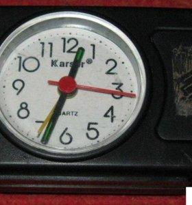 часы с будильником настольные кварцевые