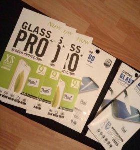 Защитное стекло на iphone 6,7