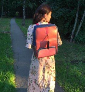 Разноцветный кожаный рюкзак