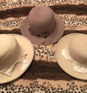 Шляпы фетровые(шерсть)
