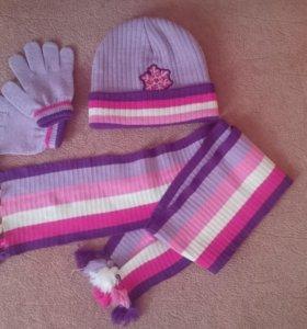 Набор (шапка,шарф,перчатки)