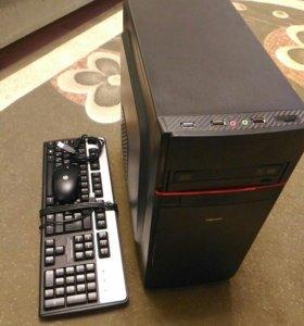 Системный блок, клавиатура и мышь