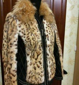Замшевая курточка комбинированая с мехом
