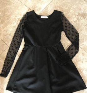 Платье чёрное s, m