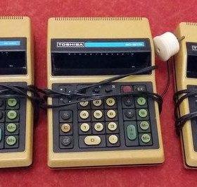 3 винтажных калькулятор Toshiba Япония
