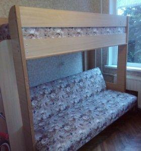 Кровать-диван двухъярусный
