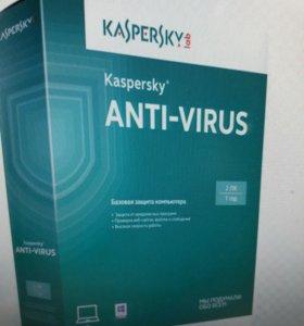 Антивирус Касперский на один комп.
