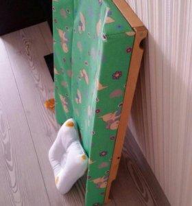 Пеленальная доска +ортопед подушка