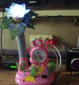 детский ночник-часы