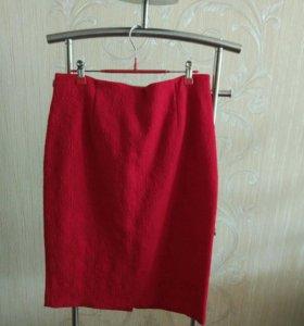 Жаккардовая юбка-карандаш
