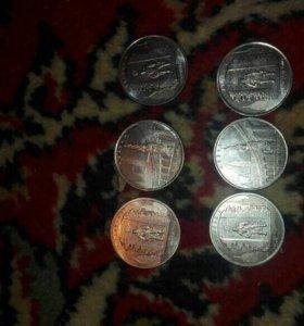 Поменяю монеты пяти рублевые