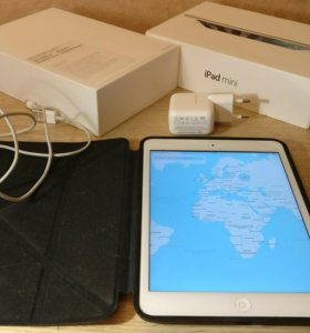 iPad Mini 2 128Gb Полный Комплект (Сим) + Чехол