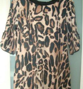 Платье леопардовое. Размер 52