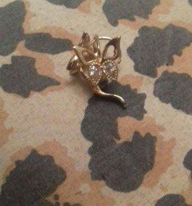Серьги золотые ( Бабочки)