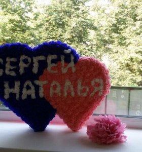 Объемные сердца с любыми надписями