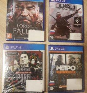 Продам новые запакованные диски для PlayStation 4