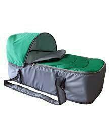 Люлька-переноска для коляски / серо-зеленая