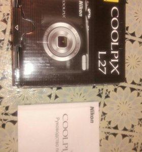 Фотоаппарат рабочий Nikon collpix L27